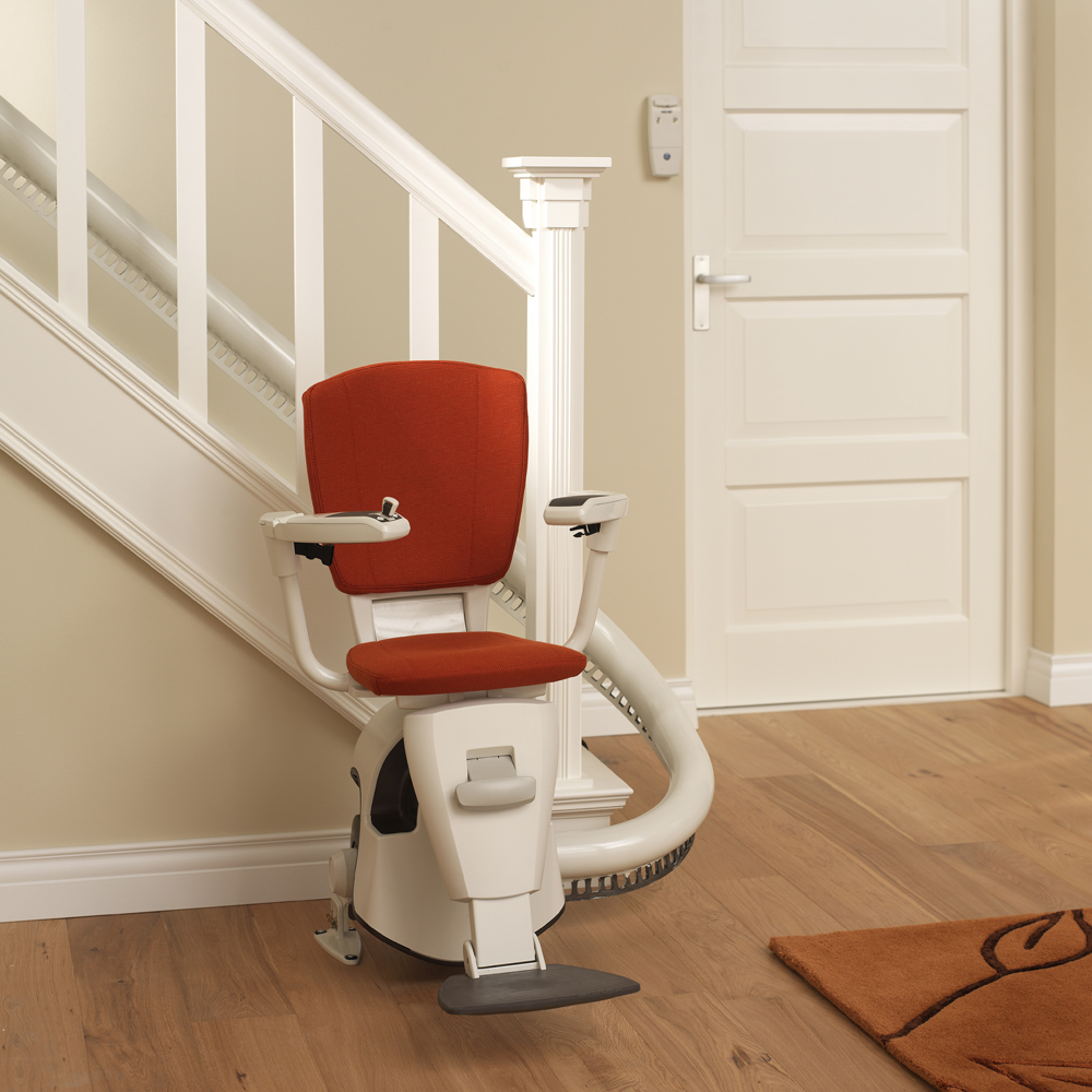 caledonian stairlifs curved stairlifts. Black Bedroom Furniture Sets. Home Design Ideas